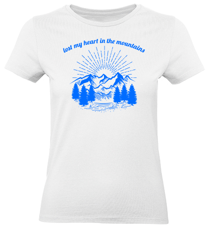 Lost my heart in the mountains Girls T-Shirt summit white