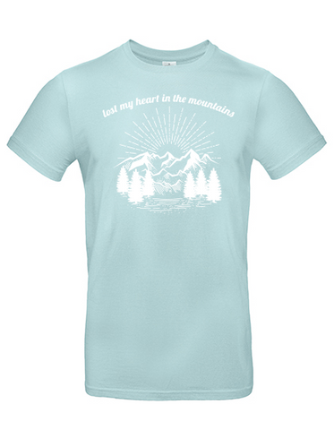 Lost my heart in the mountains light mint / white