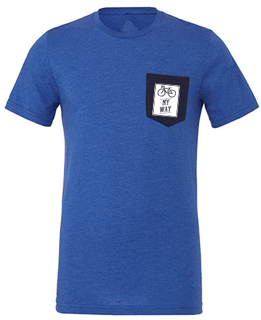 May way is cycling Pocket T-Shirt blue heather PREMIUM
