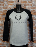 Ride Hard Longsleeve grey/black Damen