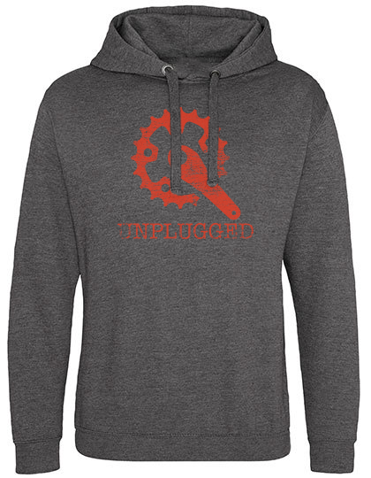 Unplugged Pocketless Hoodie dark heather