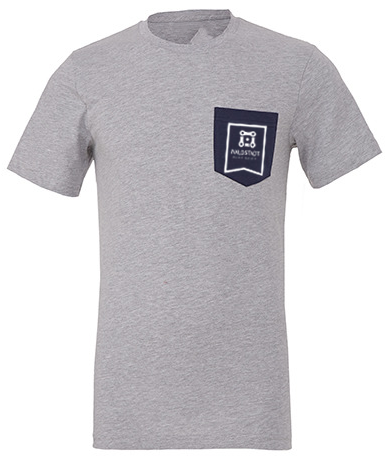 Waldstadt Bikeshop Pocket T-Shirt grey heather PREMIUM