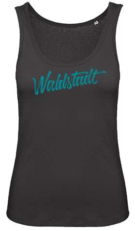 Waldstadt Signature Tank Top girls black organic cotton