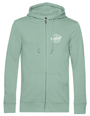 The organic Waldstadt Zip-Hoodie mint
