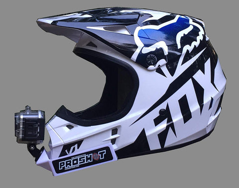 Side view of PROSHOT motocross helmet chin mount