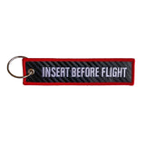 Insert Before Flight Carbon Fiber Key Tag