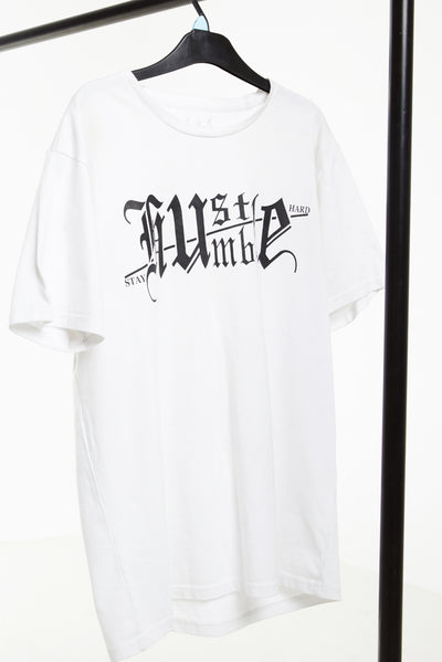 Humble/Hustle - White / Black