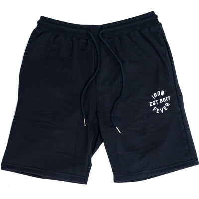 IRONFEVER BLACK PLAIN SHORTS