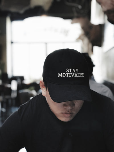Stay Motivated Hat - Black