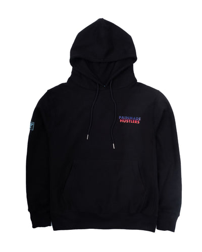 ISOMETRIC BLOCK LOGO ( LIMITED COLOR ) BLACK HOODIE