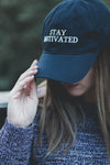 Stay Motivated Hat - Navy