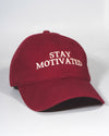 Stay Motivated Hat  - Burgundy