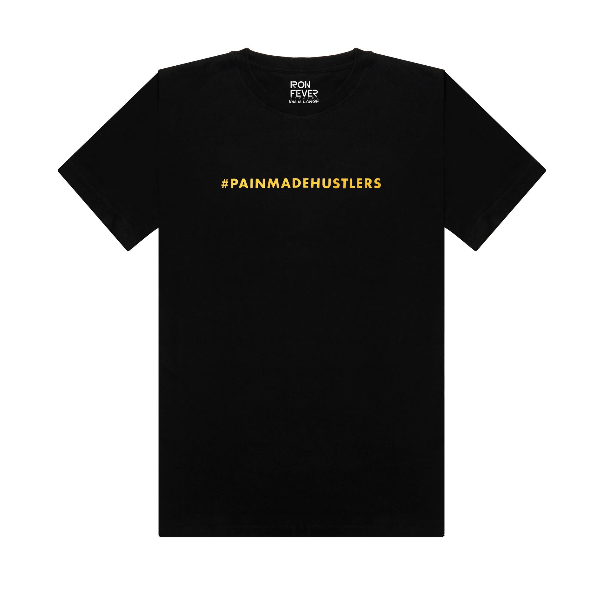 #PAINMADEHUSTLERS - Black/ Metallic Gold