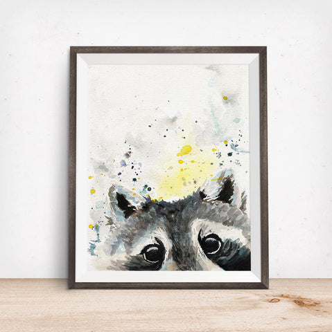 Raccoon Print - Raccoon Art