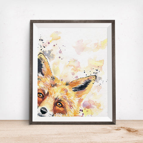 Fox Art - Woodland Nursery Art
