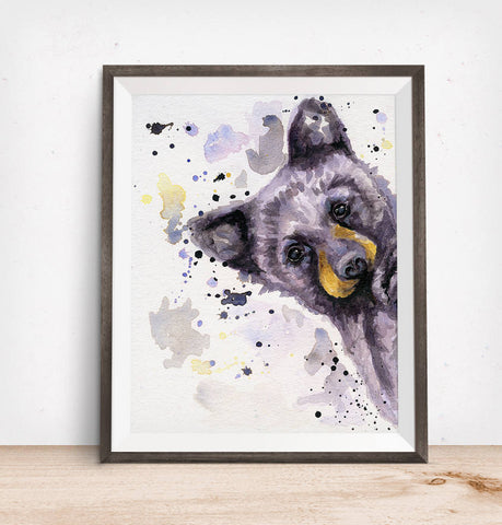 Cabin Decor - Bear Watercolor
