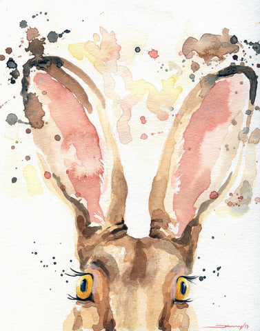 Woodland Wall Decor - Rabbit Painting