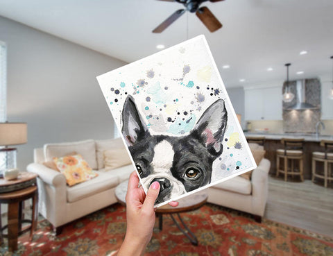 Boston Terrier Dog Art Print Home Decor Gift