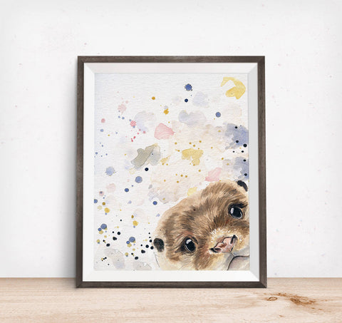 Otter Art - Otter Painting