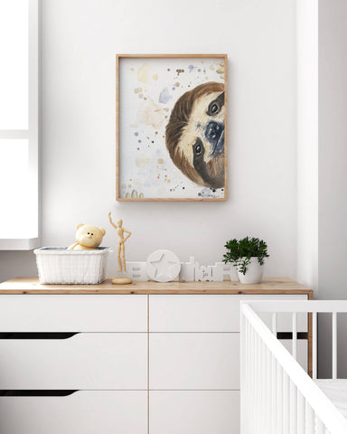 Sloth Nursery Art