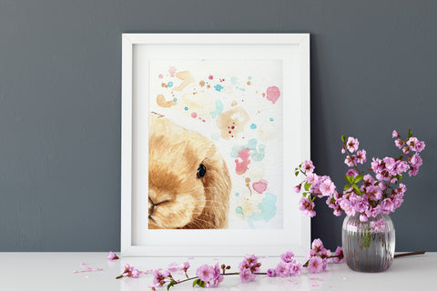 Bunny Print  - Rabbit Decor