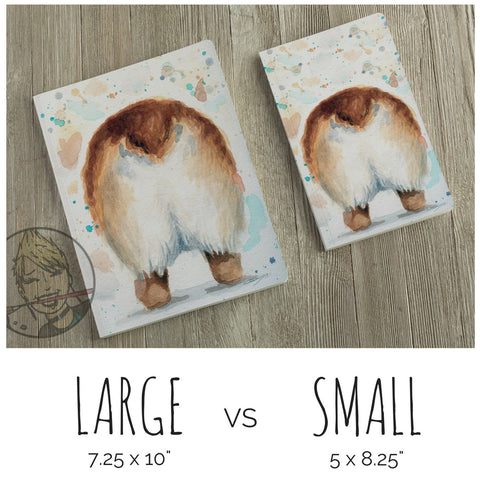 Corgi Butt  - Lined Journal