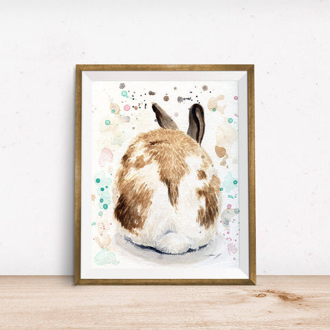 Rabbit Print - Bunny Art