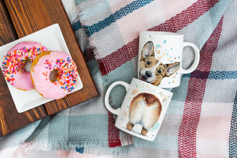 Corgi Butt Coffee Mug - Corgi Face Mug