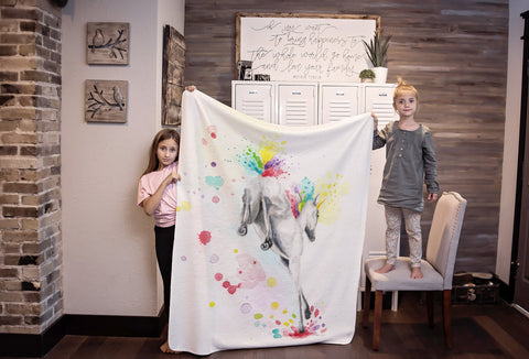 Unicorn Blanket, Gift for daughter