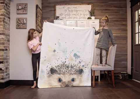 Woodland Animal Blanket - Hedgehog Blanket
