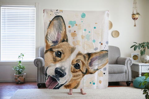 Corgi Blanket - Valentines day Gift Idea for Corgi Lovers
