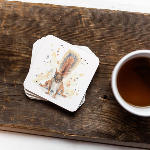Squirrel Animal Coaster Set