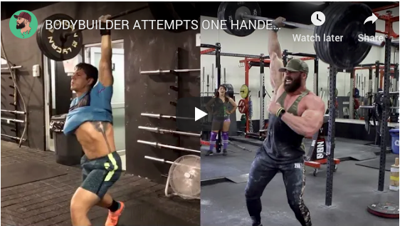 Bradley Martyn Attempts One Handed Crossfit Move!