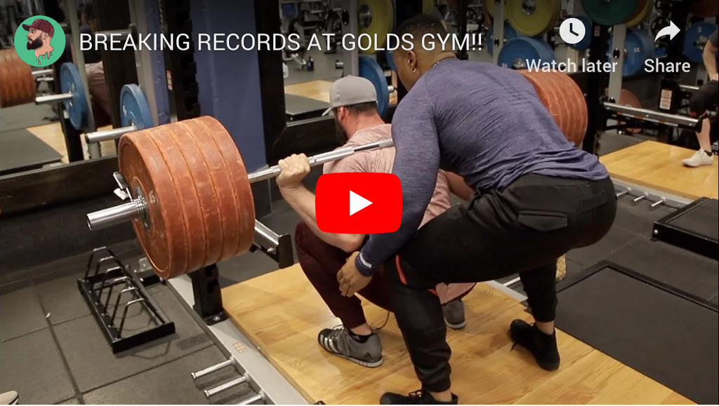 🏋️ Breaking records at Golds gym w/ Bradley Martyn