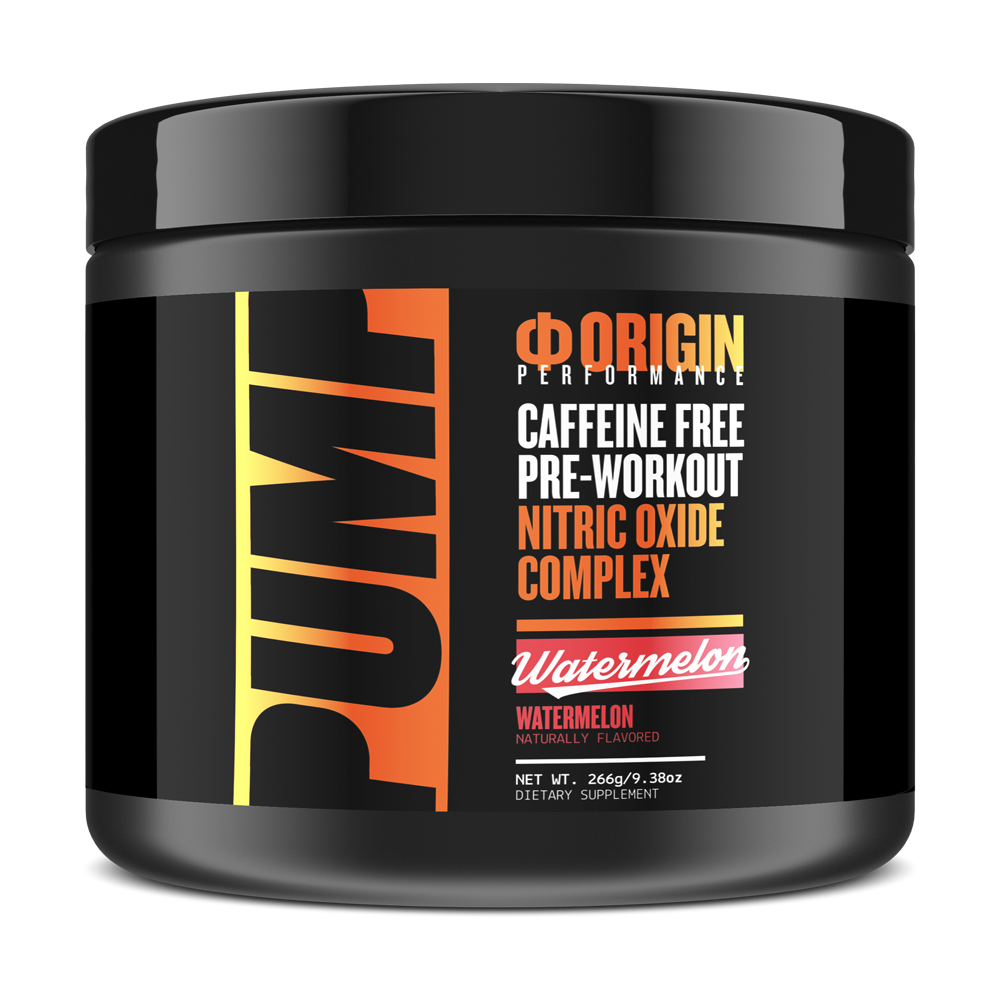 Origin PUMP Caffeine Free Pre-Workout Nitric Oxide Complex - Origin Supps