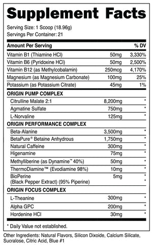 Origin UNCOMPROMISED Pre-Workout + Program