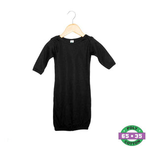 Black Infant Gown- 65% Poly