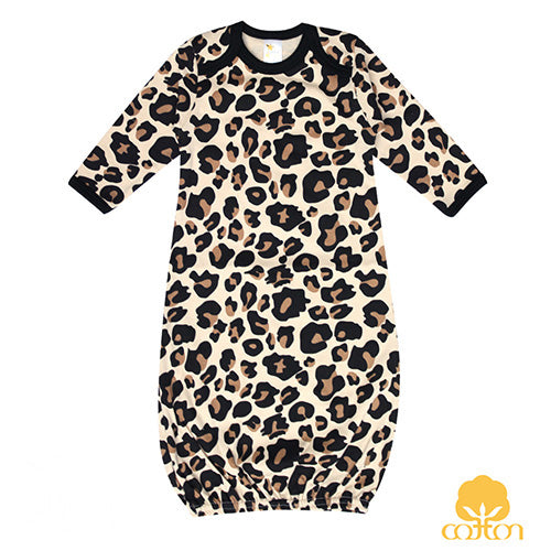 Leopard Gown- 100% Cotton