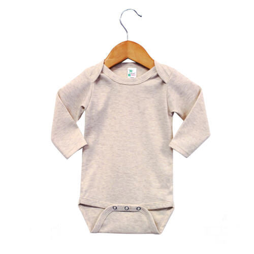 Infant Oatmeal LS Onesie- 65% Polyester