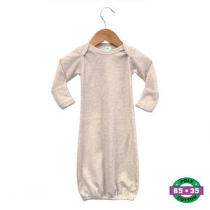 Oatmeal Infant Gown- 65% Poly