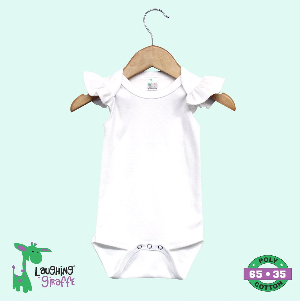 Infant Flutter Sleeve Bodysuit- 65% Poly