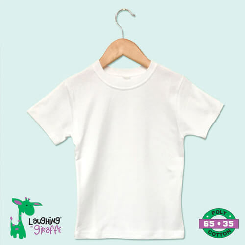 Toddler S/S T-Shirt White-65% poly
