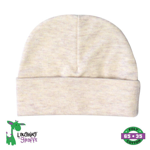 Oatmeal Infant Solid Beanie- 65% Poly