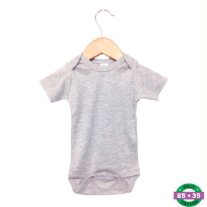 Grey Short Sleeve Bodysuit- 65% Poly