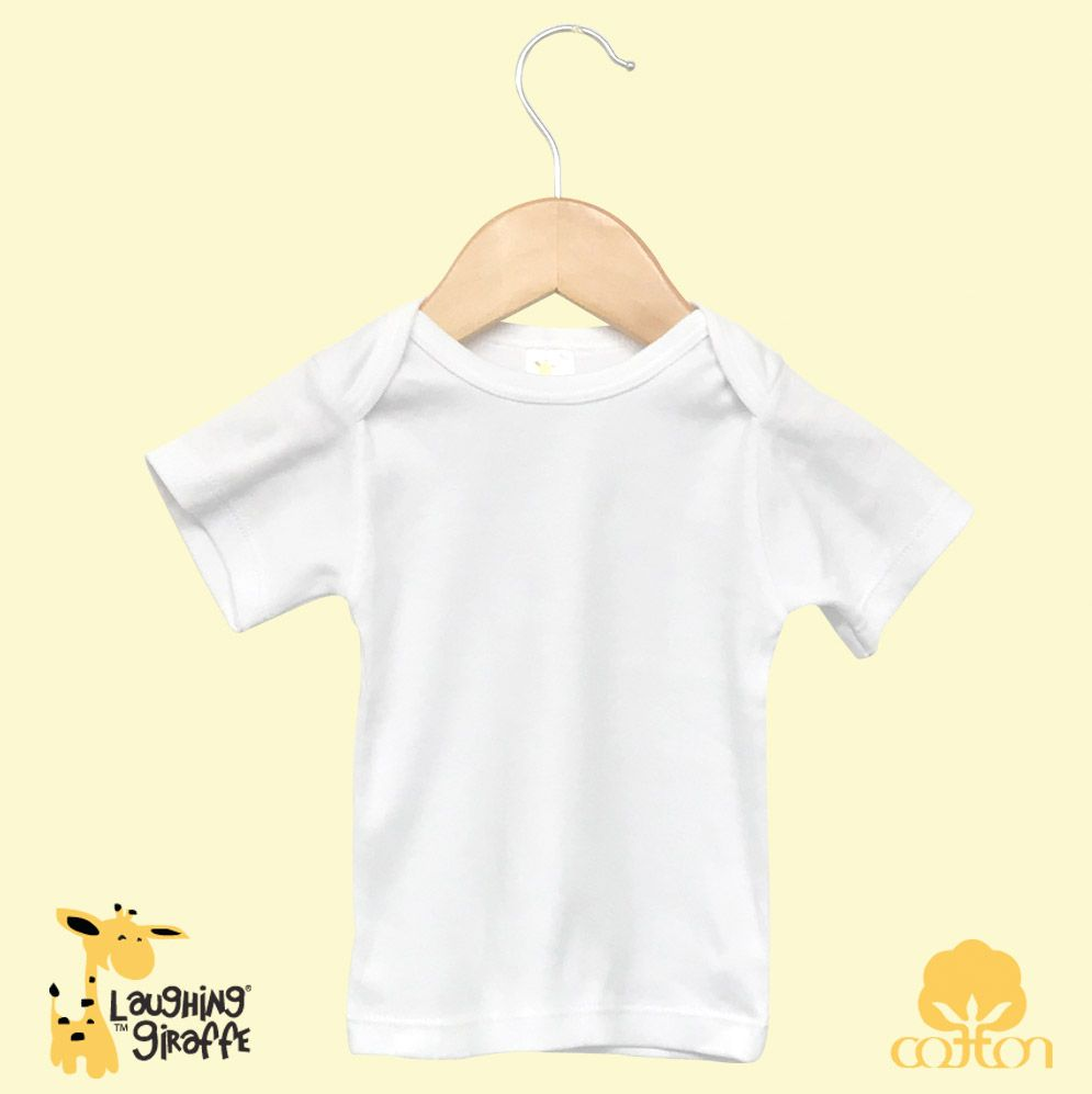 Baby Lap T Short Sleeves - White- 100% Cotton