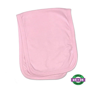 Pink Infant Solid Burp Cloths- 65% Poly