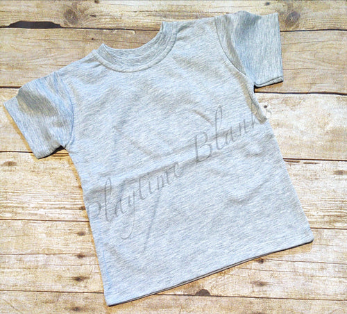 Toddler short sleeve T-Shirt Crew - Gray 65% poly