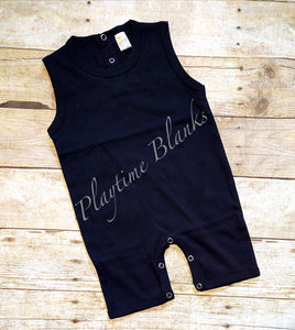 Black Infant Romper- 100% Cotton