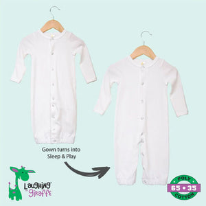 Infant Convertible Gowns- 65% Poly