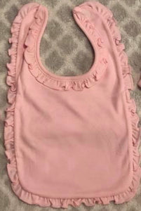 Infant Ruffle Bibs- 65% poly